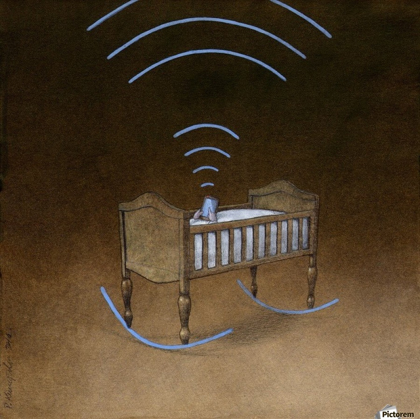 Wireless baby crib