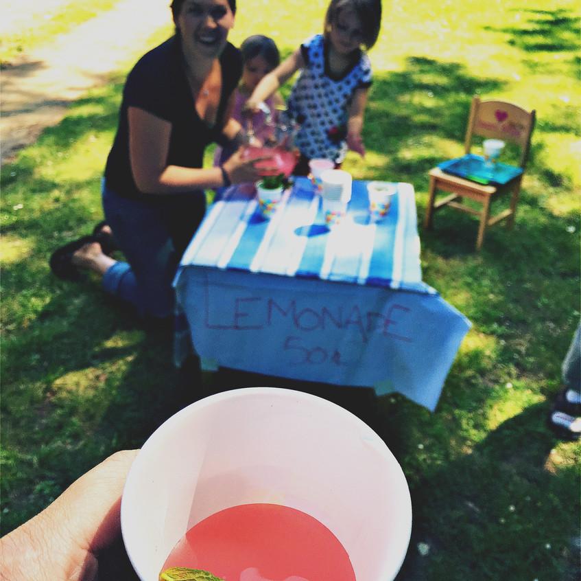 My first American lemonade