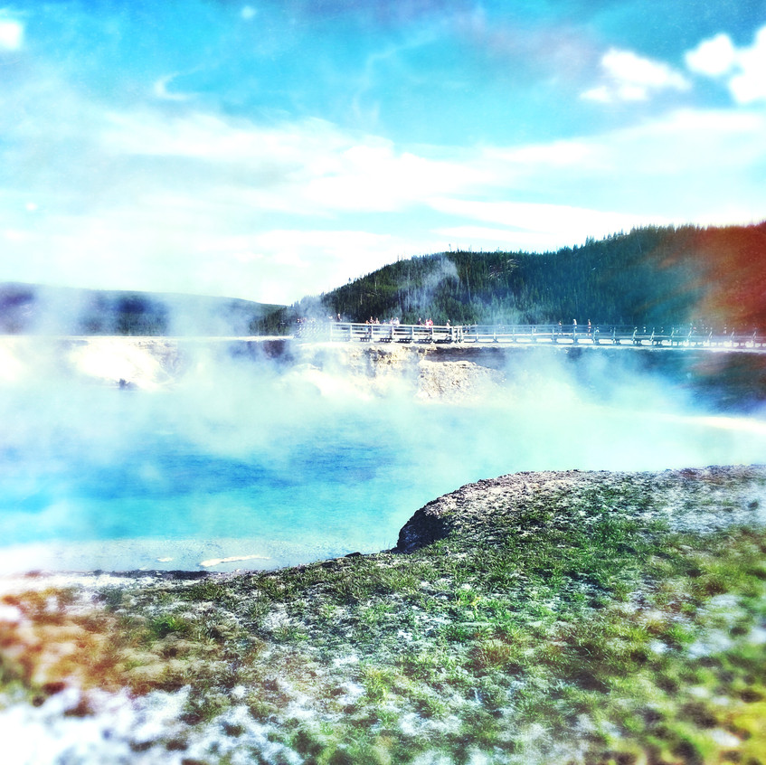 Beauty of the Yellowstone park