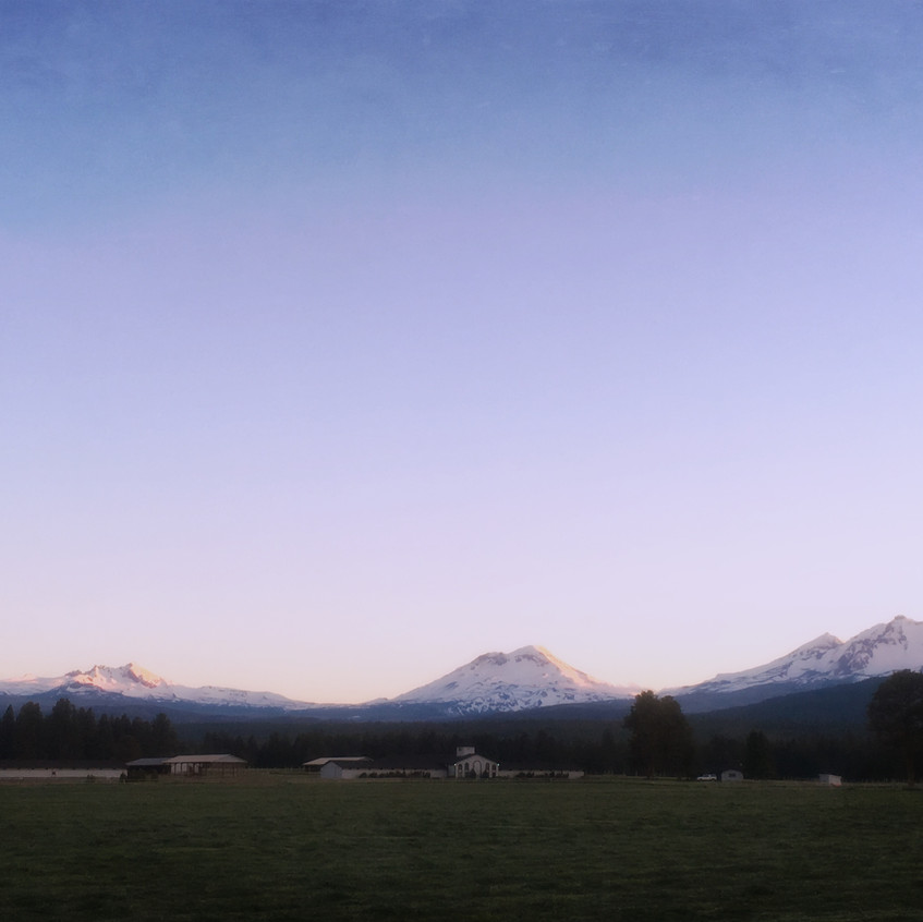 Three Sisters in the dusk