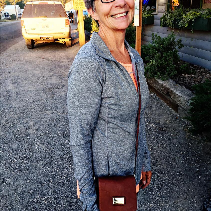 Judy and her fancy handbag