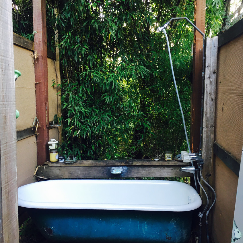 Outside bath!