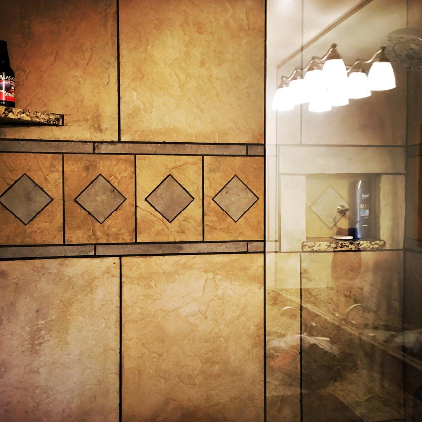 Beer shower shelf!