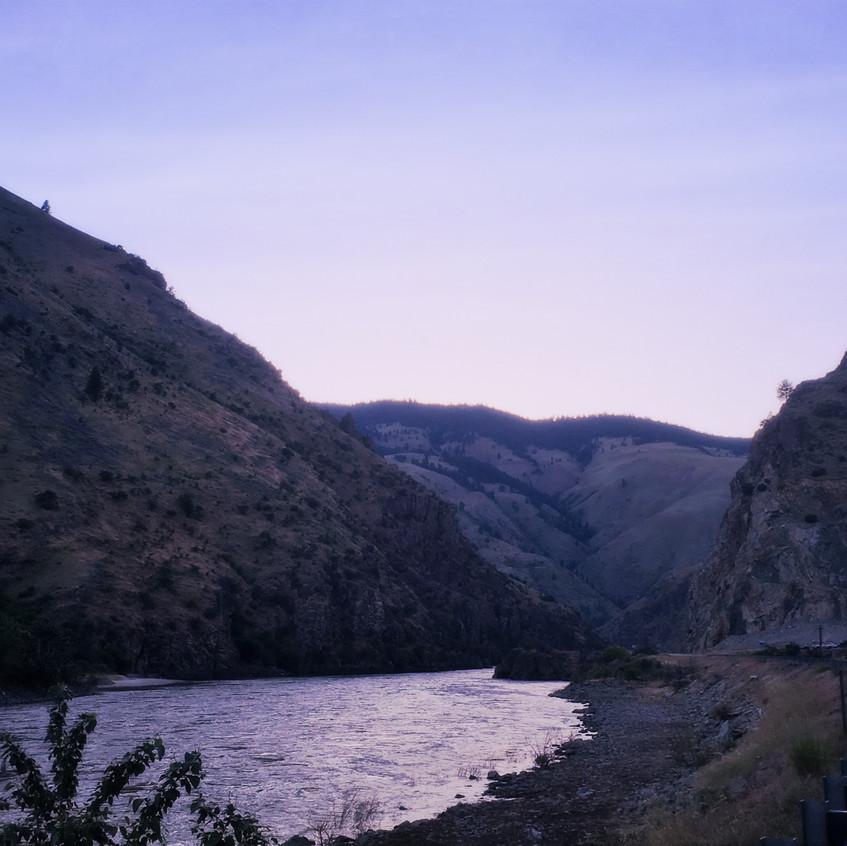 Canyon at dusk