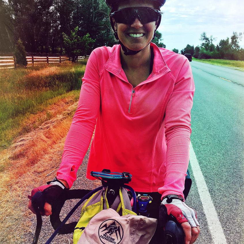 Fellow solo female cyclist