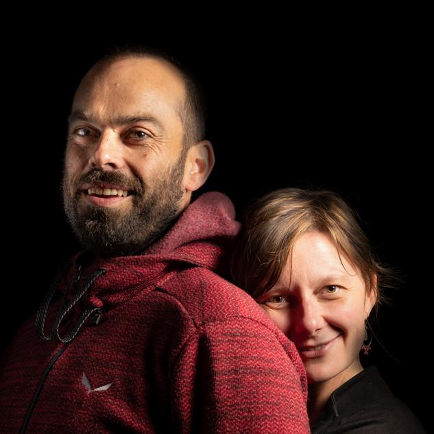 Portrait studio photo Isaline et Philippe