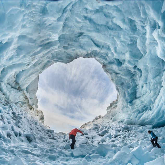 reportage exploration sous glacière