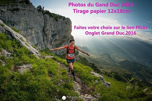 Photos Grand Duc 2016 Tiarge papier 12x18 cm