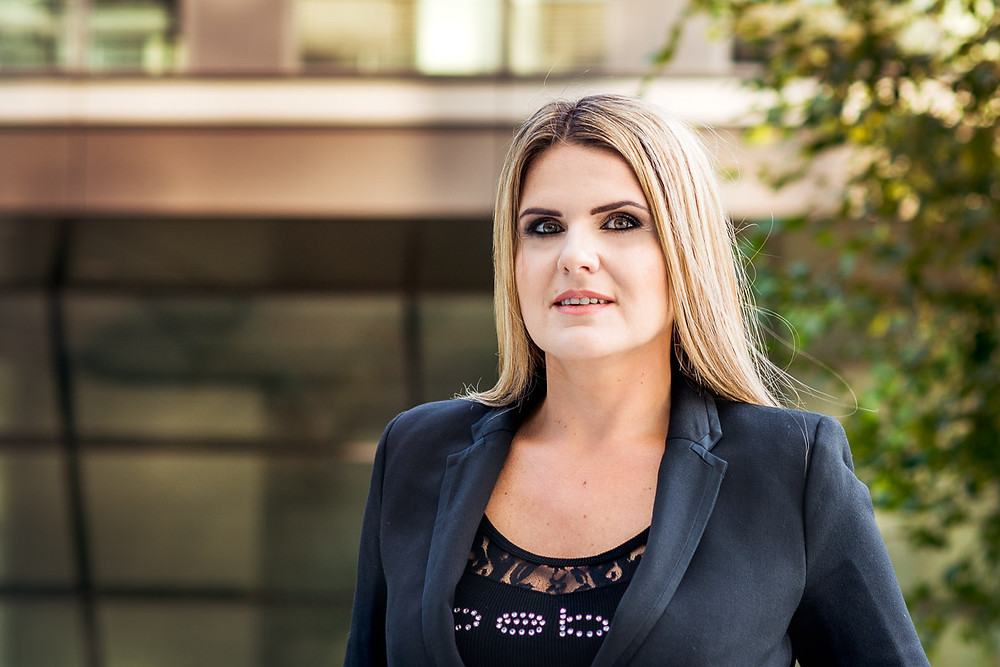Picture of Sandra Balazikova, young confident and smiling business women