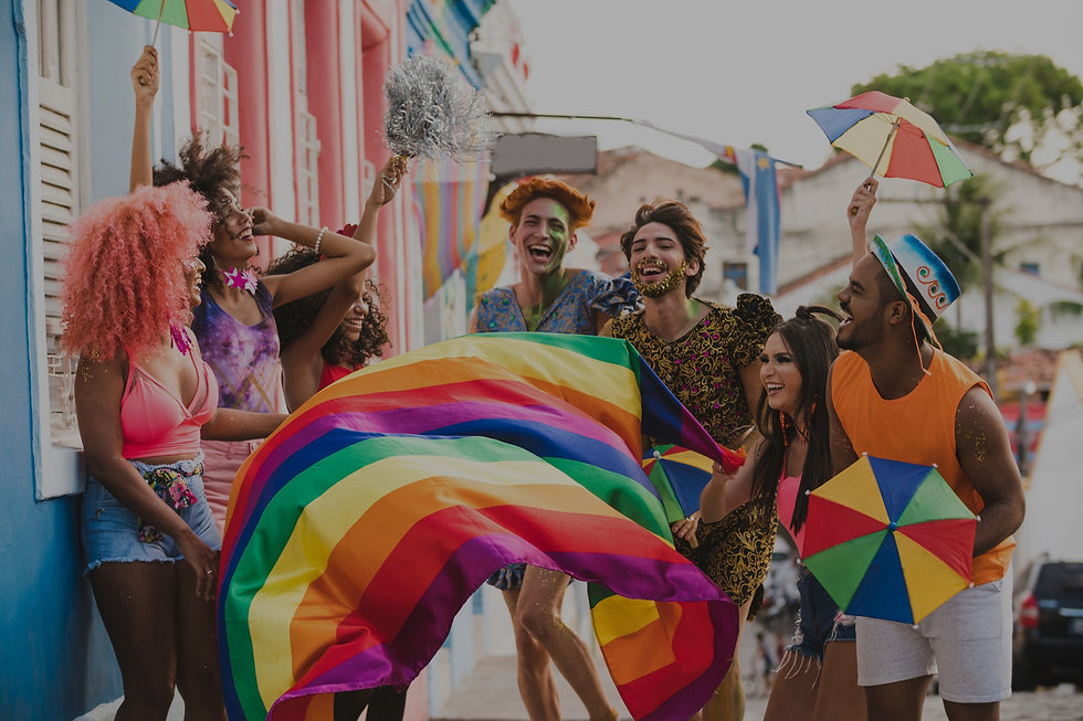 Happy people in a Pride