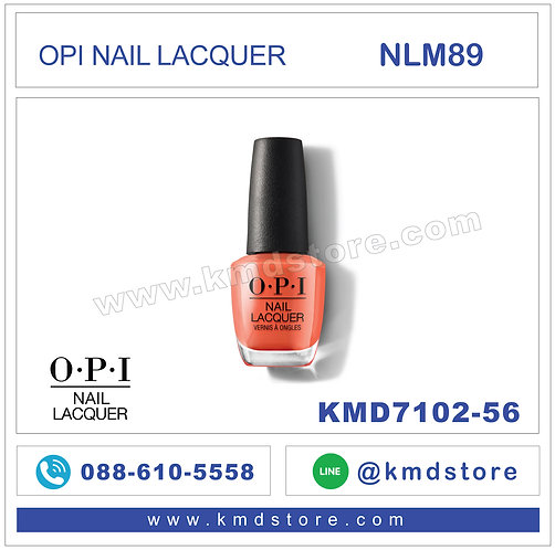 KMD7102-56 สีทาเล็บ OPI NAIL LACQUER - My Chihuahua Doesn't Bite Anymore / NLM89