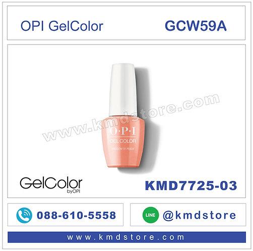 KMD7725-03 สีทาเล็บ OPI GEL COLOR - Freedom of Peach / GCW59A