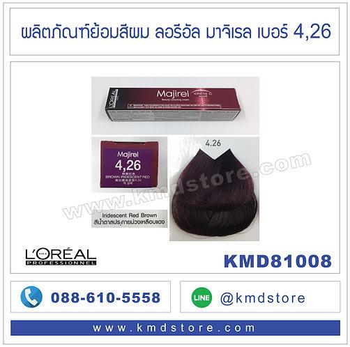 KMD81008 L'OREAL Majirel Iridescent Red Brown #4,26
