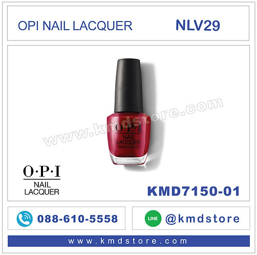 KMD7150-01 สีทาเล็บ OPI NAIL LACQUER - Amore at the Grand Canal / NLV29