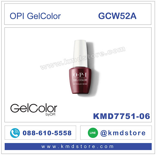 KMD7720-95 สีทาเล็บ OPI GelColor - GOT THE BLUES FOR RED /GCW52A