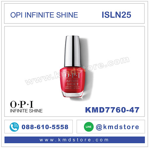 KMD7760-47 สีทาเล็บ OPI INFINITE SHINE - Big Apple Red / ISLN25