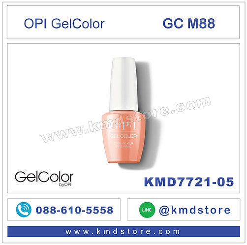 KMD7721-05 สีทาเล็บ OPI GEL COLOR - Coral-ing Your Spirit Animal / GCM88