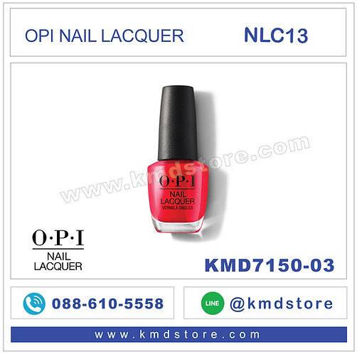 KMD7150-03 สีทาเล็บ OPI NAIL LACQUER - Coca-Cola® Red / NLC13