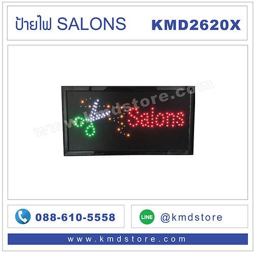 KMD2620X ป้ายไฟ SALONS