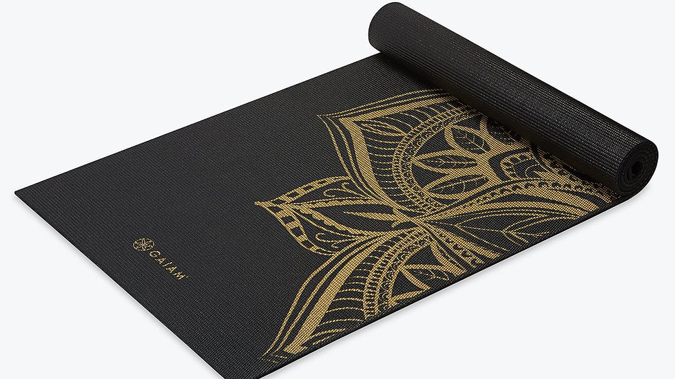 Gaiam - Premium Metallic Medallion Yoga Mat (6mm)