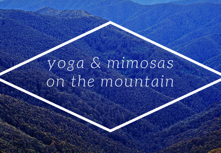 Last Chance this season for Yoga and Mimosas on the Mountain