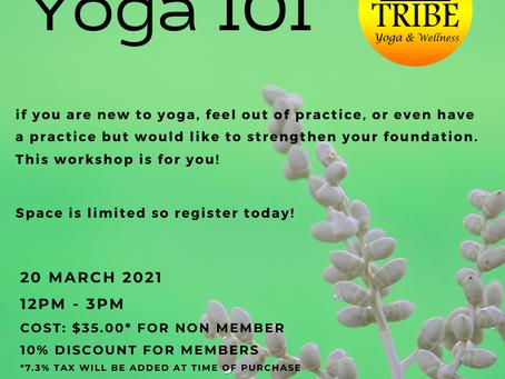 Yoga 101 Workshop!