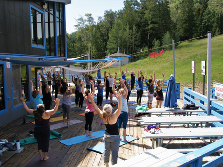 Yoga and Brunch on the Mountain!    It was so much fun we are doing it again!