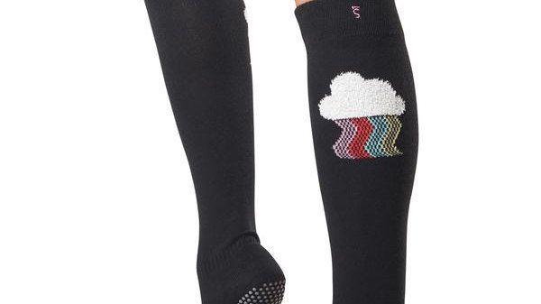 Toesox - Full Toe Scrunch Knee High Grip Socks