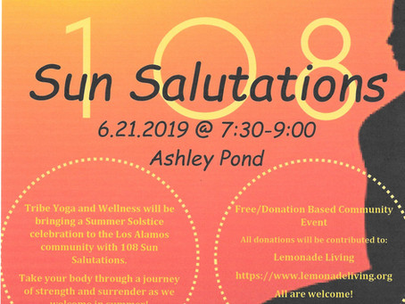 108 Summer Solstice Sun Salutations!!