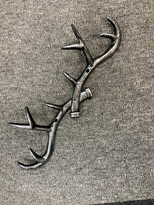 Cast iron antler hooks