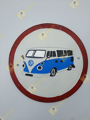 VW Campervan Cast Iron Wall Plaque