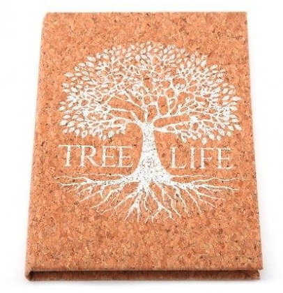 A5 Tree of Life Notebook - Cork