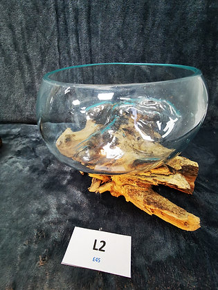 Molten Glass on Wood (L2) - Large Open Bowl