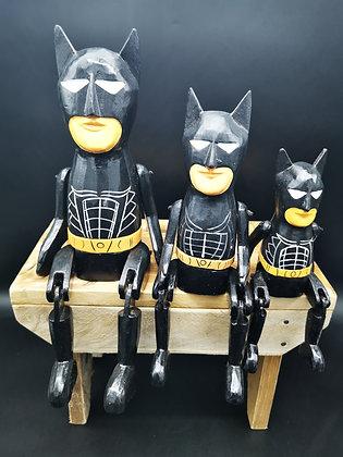 Bat Dude Puppets - wooden