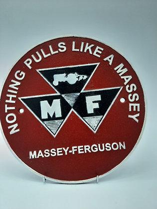 Massey Ferguson Cast Iron Wall Plaque