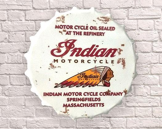 Indian Motor Oil Rust Effect Huge 40cm Bottle Top