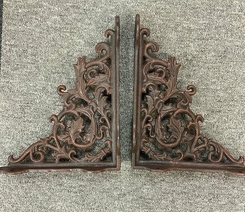 Large cast iron shelf brackets