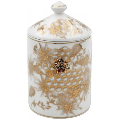 Gold Bee Hive Jar Candle