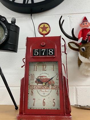 Petrol pump clock - tin