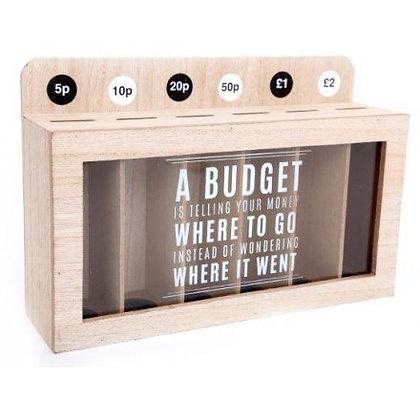 Coin sorting savings money box