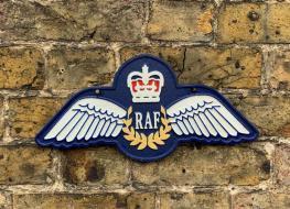 RAF Cast Iron Wall Plaque
