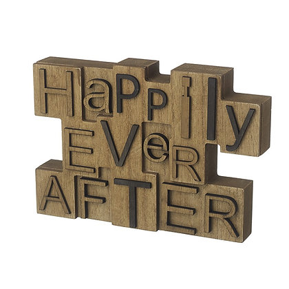Happily Ever After Wood Block