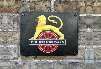 British Railways Cast Iron Plaque