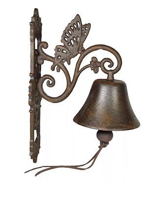 Cast Iron Butterfly Bell