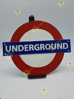 Cast Iron London Underground Wall Plaque