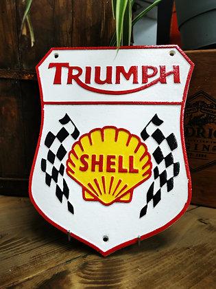 Triumph shell plaque