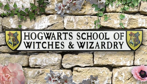 Witches and Wizardry Wall Plaque - Wood XXL