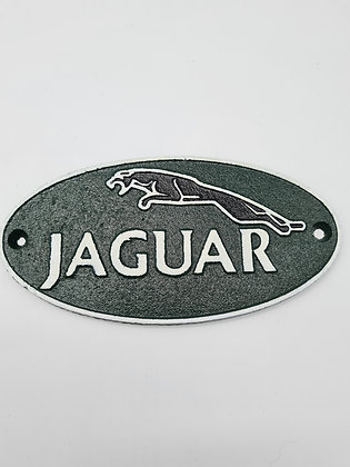 Mini cast iron Jaguar plaque