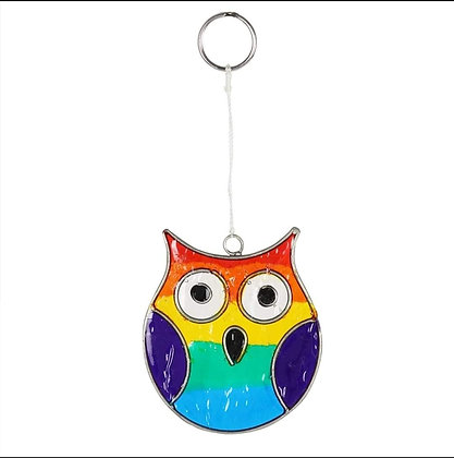 Rainbow Owl Suncatcher
