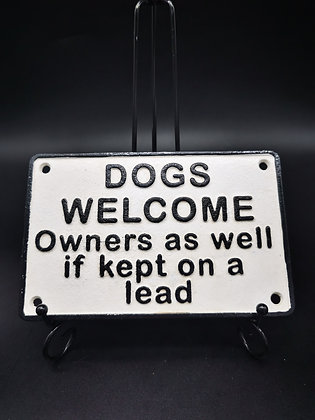 Dogs Welcome Wall Plaque